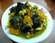 Món ốc xào chuối ăn ngon vị lạ